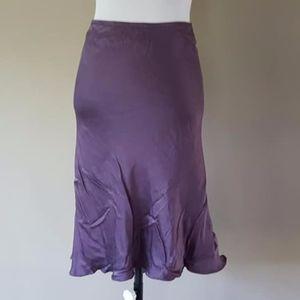 SILK Skirt Purple Medium Studio M